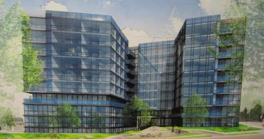 Architect's rendering of Cafritz's 5333 Connecticut.