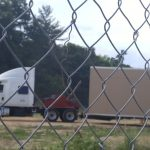 Trailers arrive at Murch School's temporary home at UDC