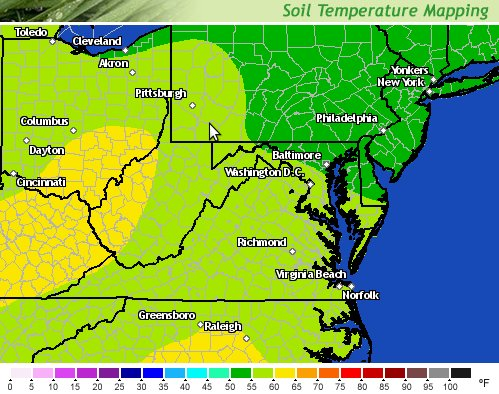 Are you prepared for the cicada invasion forest hills for Soil temperature map
