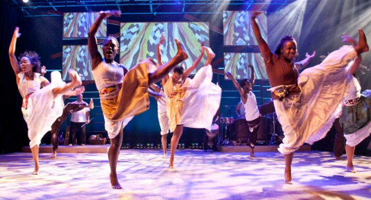 Step Afrika! performing  The Migration: Reflections on Jacob Lawrence